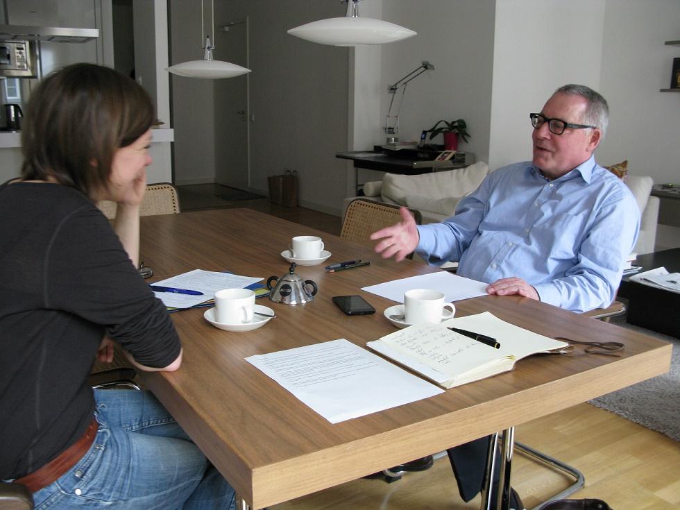 Karl Schlögel im Gespräch mit Katharina Sebold (Bild: Julius Reinsberg)