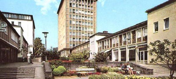 Kassel, Treppenstraße (Bild: historische Postkarte)