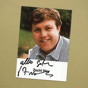 Autogramm des Schauspieler Zachi Noy (Bild: Randfilm e. V.)