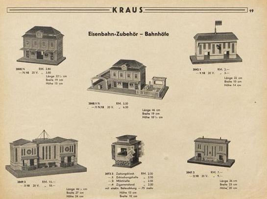Jos. Kraus & Co. Nürnberg-W, Sonderkatalog 1933