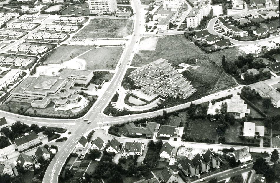 Erftstadt-Liblar, Hügelhaus, um 1978 (Bild: Archiv der Stadt Erftstadt, Best. E 01, Bildarchiv Liblar)