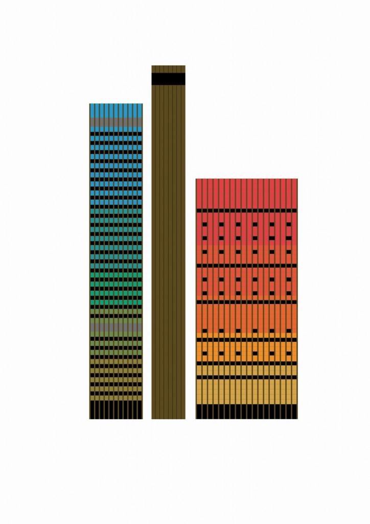 Farbgestaltung, Deutsche Welle, Köln (Grafik: Uta Winterhager)