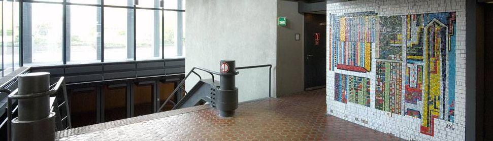 Deutsche Welle, Köln: auch innen farbstark (Bild: Clees-Group)