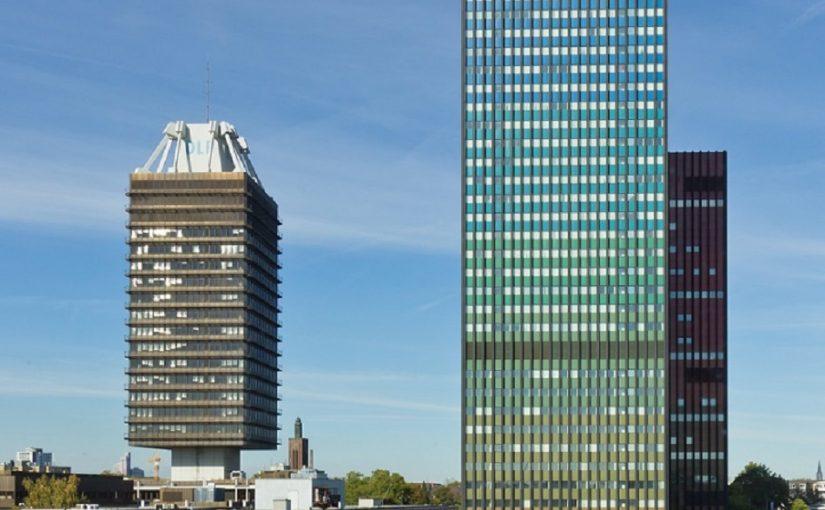 Köln, Hochhäuser Deutschlandfunk und Deutsche Welle (Bild: Copyright Raimond Spekking, CC BY SA 3.0, via wikimedia commons)