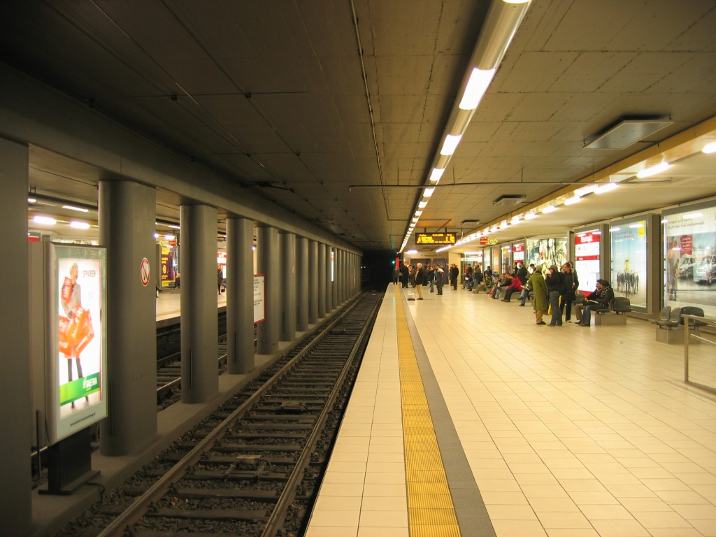 "Koeln, U-Bahnstation ""Neumarkt"", Bahnsteig (Bild: A. Savin, CC BY SA 3.0 oder FAL)"