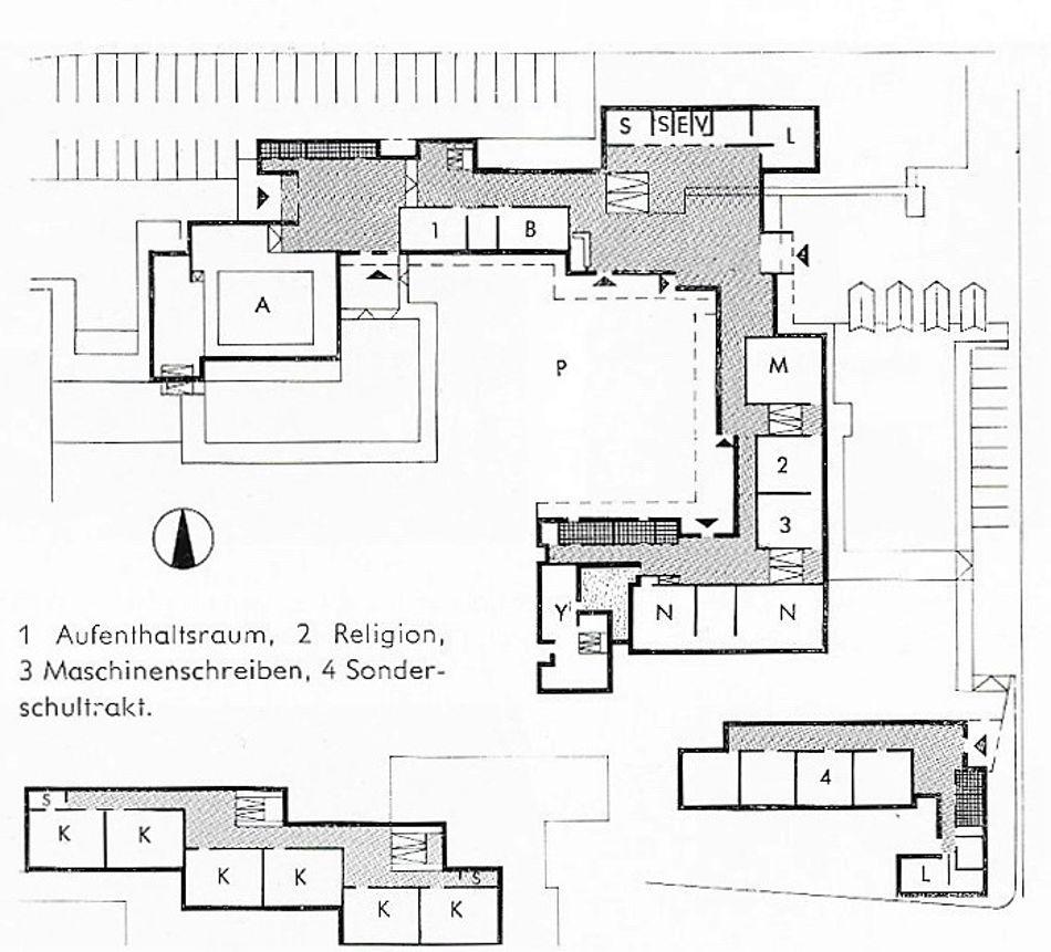 Bad Friedrichshall, Mittelschule, Grundriss