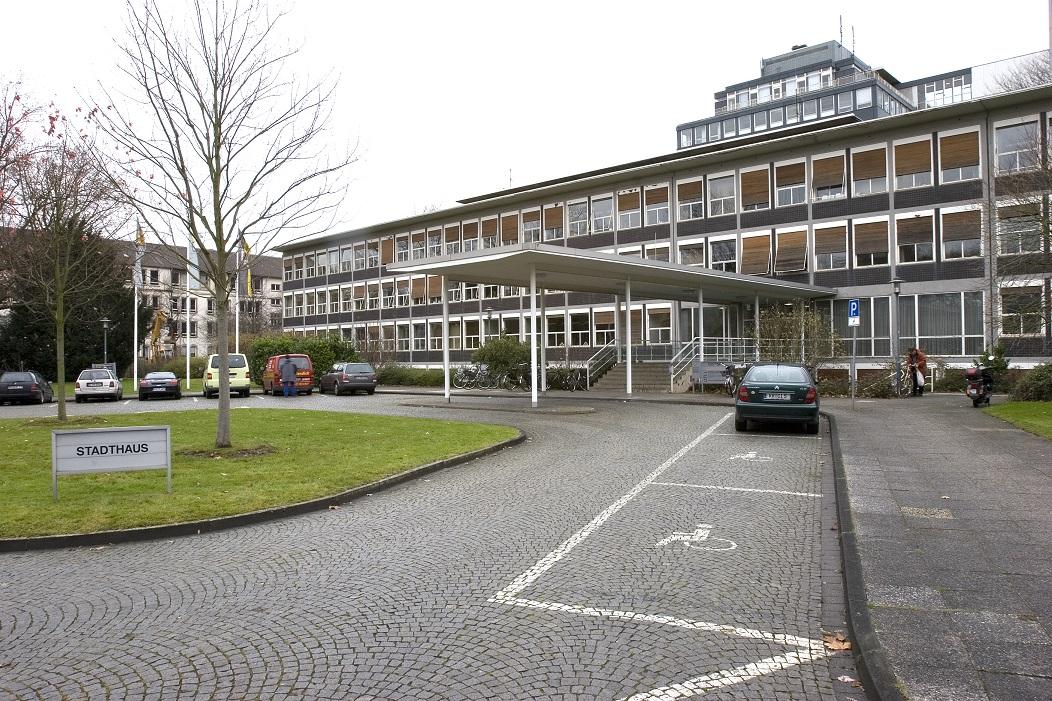 Stadthaus Krefeld (ehemals Verwaltungsgebäude Verseidag, Egon Eiermann, 1951-53) (Foto: LVR-ADR, Thomas Ströter, 2007)