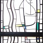 Langen, Albertus-Magnus-Kirche (J. Kepser, 1985), Fenstergestaltung von Georg Meistermann (Bild: K. Berkemann)