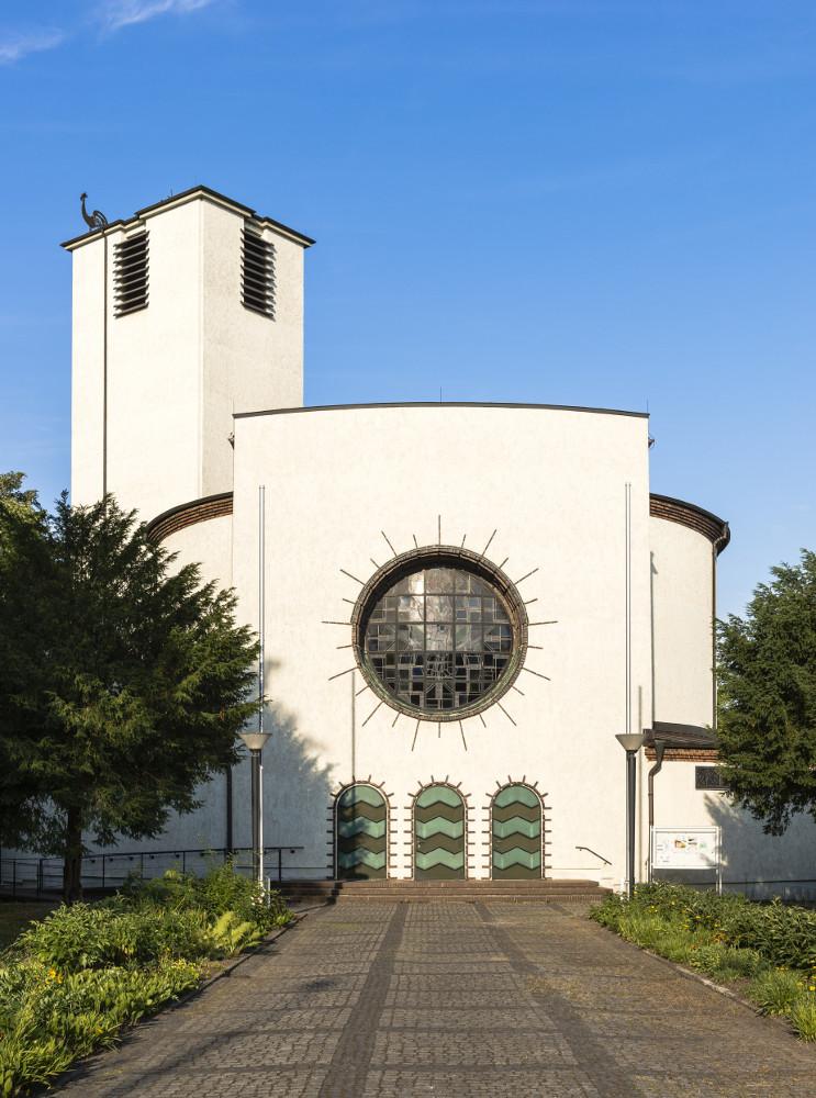 Leipzig-Connewitz, St. Bonifatius (Foto: Wolfgang Junius, 2018, Quelle: Landesamt für Denkmalpflege Sachsen)
