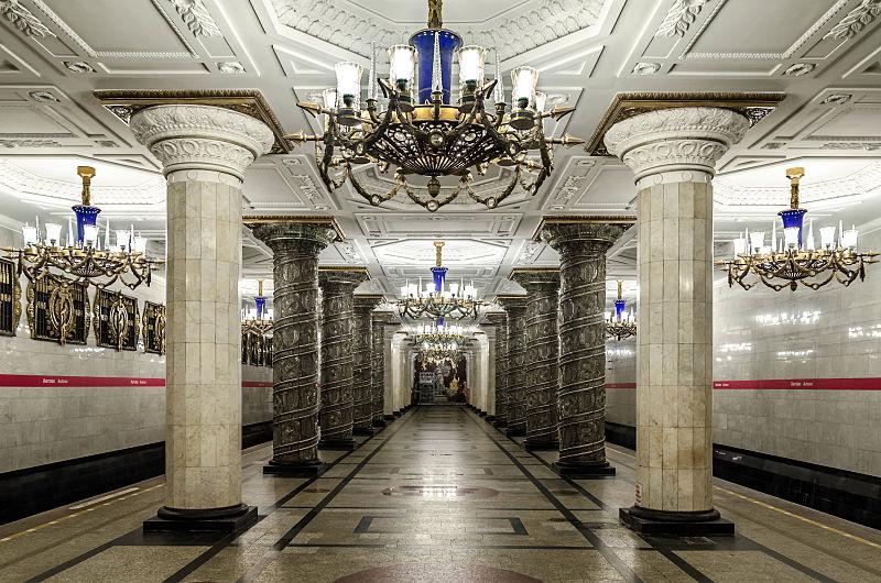 Leningrad, Metrostation Avtovo (Bild:  Alex Florstein, CC By SA 3.0)