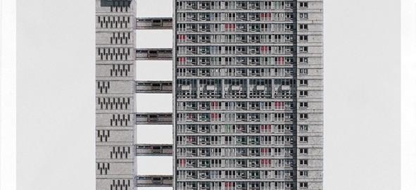 "London Brutal, Schneidebogen ""Balfron Tower"" (Bild: behance.net)"