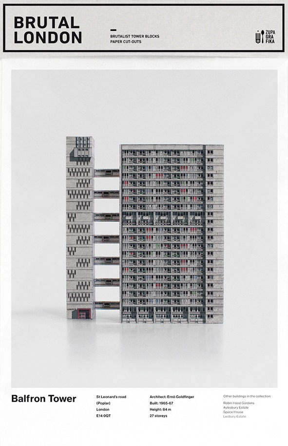 "London Brutal, Schneidebogen ""Balfron Tower"" (Bild: behance.net)"