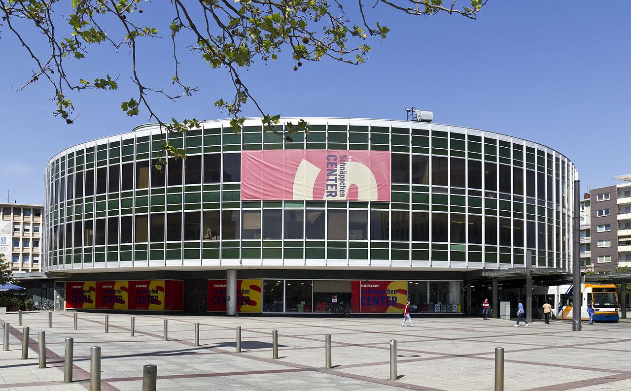 Tschüss Tortenschachtel: Der 1960 eröffnete frühere Kaufhof in Ludwigshafen wird abgerissen (Bild: Rudolf Stricker)