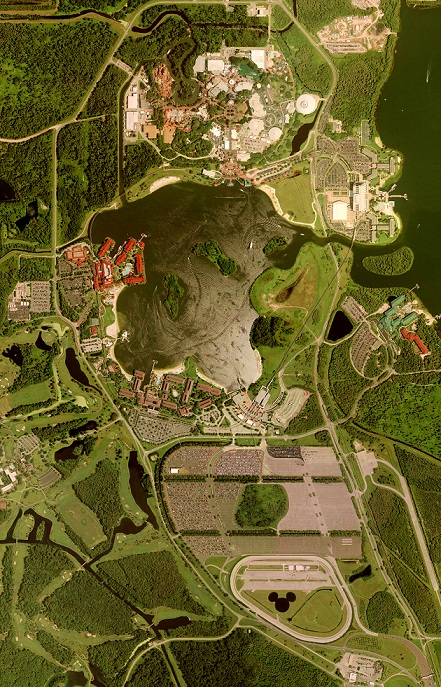 "Freizeitpark ""Magic Kingdom"" (Bild: United States Geological Survey, gemeinfrei)"