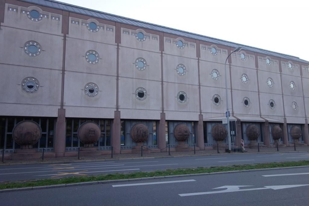 Mannheim, Bauwerk von Gottfried Böhm (Bild: Turit Fröbe)