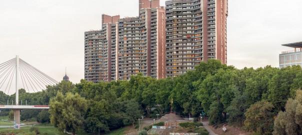 Ganz hohe Häuser