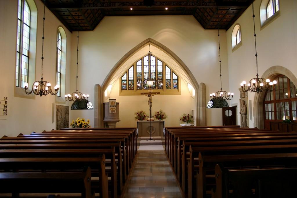 Massenbach, Georgskirche, 1913 (Bild: Raphael Lutz, GFDL oder CC BY-SA-3.0 oder CC BY-SA 2.5-2.0-1.0)