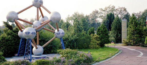 Ratingen-Breitscheid, Minidomm, Modell des Brüsseler Atomiums (Bild: C. Konrad/St. Schneider, Minidommarchiv, 1991)