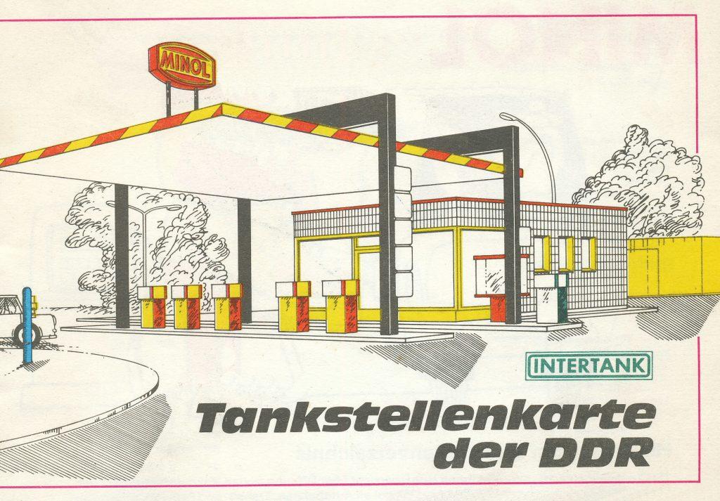 """""""Tankstellenkarte der DDR"""" (Bild: historische Vorlage)"""