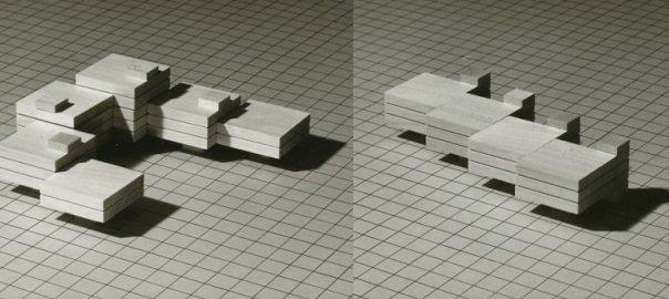 """Modellvarianten zum Thema """"Standardgrundrisse"""" aus der Bauabteilung der """"Neuen Heimat"""", 1970 (Bildquelle: Hamburgisches Architekturarchiv, Neue Heimat FA 027, S. 9)"""