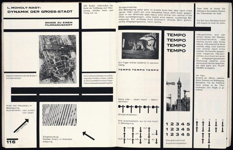 László Moholy-Nagy, Dynamik der Großstadt, 1925 (Bild: PD)