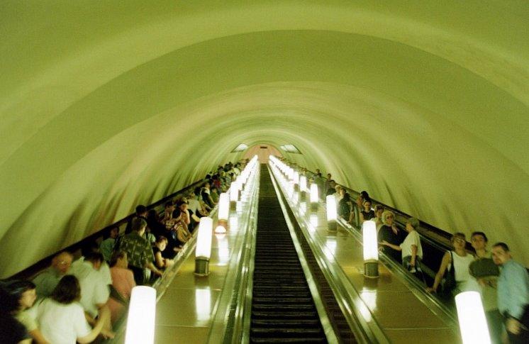 Moska, Metrostation, Rolltreppe (Bild: Sansculotte, CC BY SA 1.0)