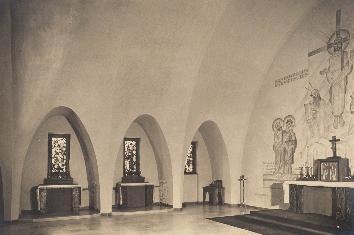 Münster, Deutsches Studentenheim, Kapelle (Bild: Deutsches Studentenheim, Münster, um 1929)