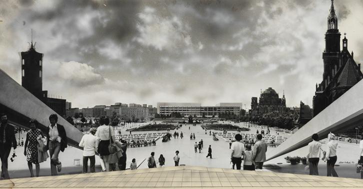 Der Palast der Republik auf einer Ansicht Dieter Urbach (Bild: Dieter Urbach, Berlinische Galerie)