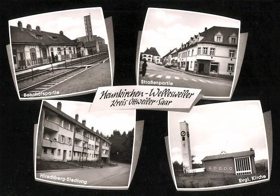 Neunkirchen-Wellesweiler (Bild: historische Postkarte)