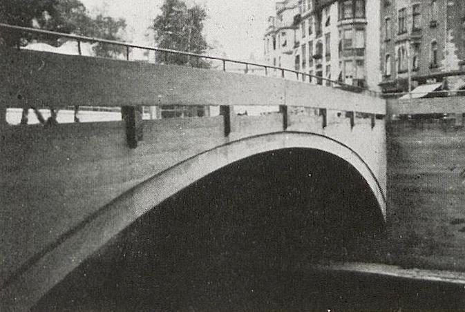 Frankfurt am Main-Rödelheim, Niddabrücke (Quelle: Nachhlass Heinrich Helbing)