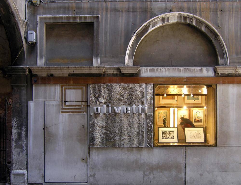 Venedig, Olivetti-Store und Logo von Carlo Scarpa, 1957 (Bild: © Seier+Seier, via flickr.com)
