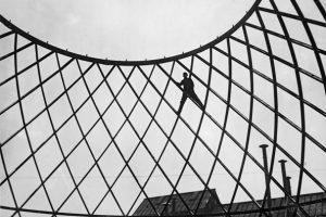 Otto Bartning, Baustelle Deutscher Reichspavillon, Mailand, 1926 (Fotograf unbekannt, © Atlantik Photos & Co.)