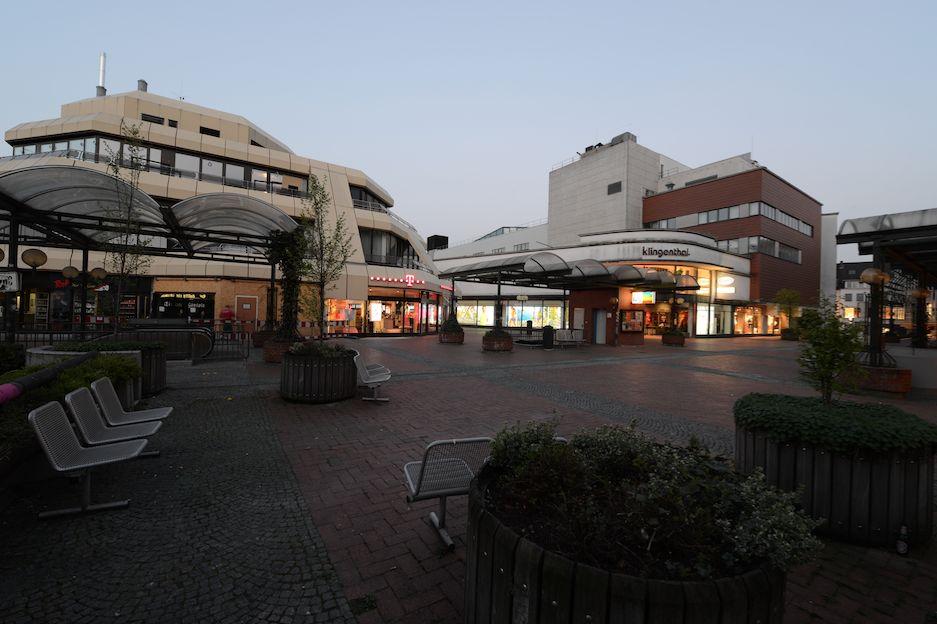 Paderborn, Königsplätze, Inselhaus und Kaufhaus Klingenthal (Bild Jürgen Steffens)