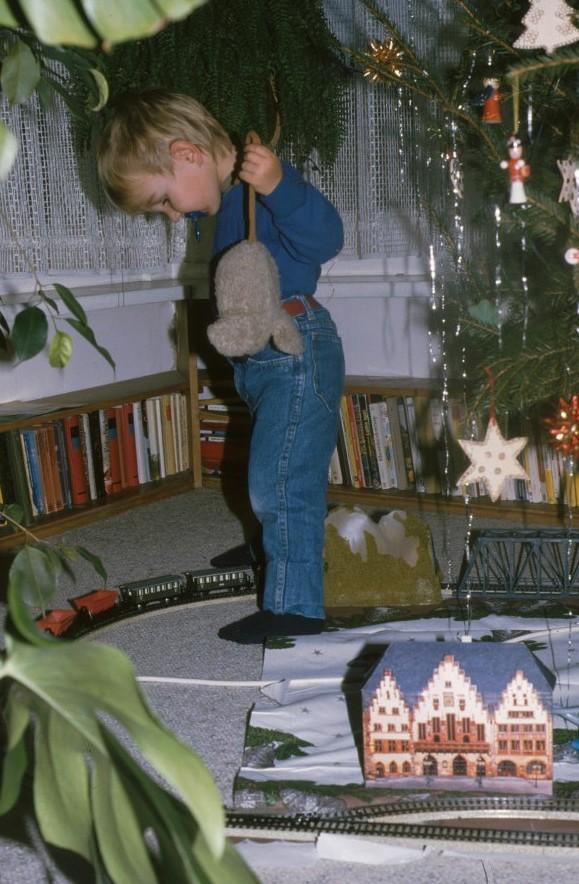 Peter Liptau Weihnachten 1985 in seiner Funktion als Tunnel (Foto: privat)