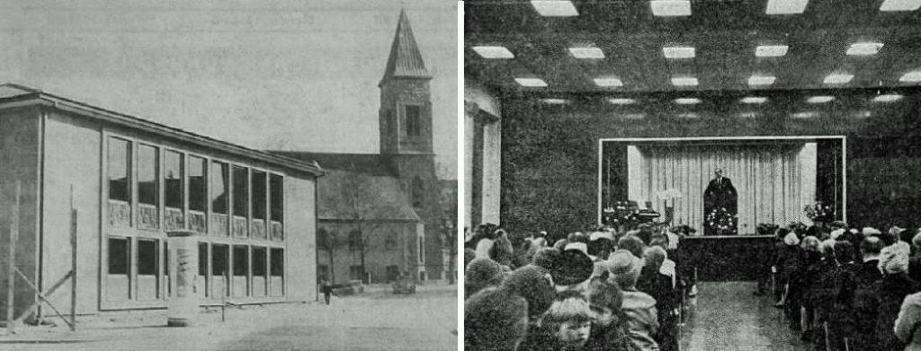 Pforzheim, Ev. Gemeindehaus in der Altstädter Straße (Bild: historische Pressebilder, um 1965)