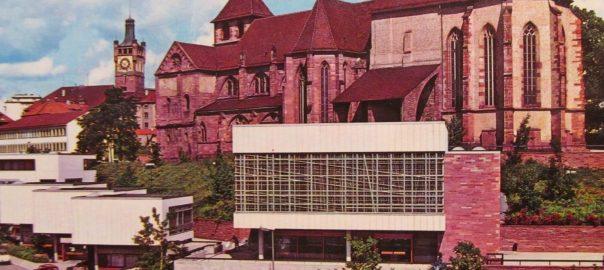 Pforzheim, Sclloßberg mit Lutherhaus (Bild: historische Postkarte)