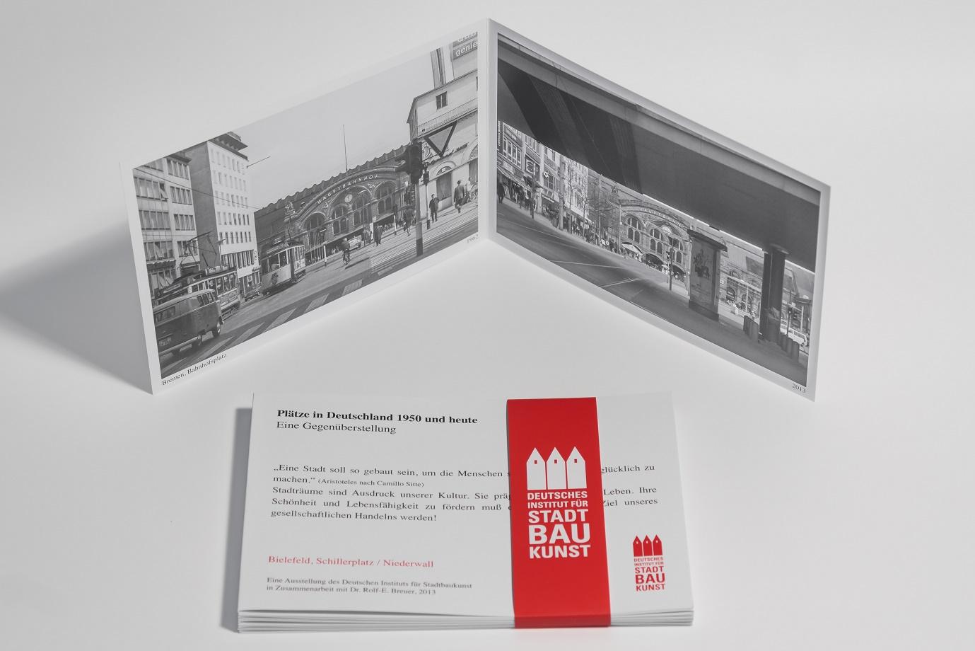 """""""Plätze in Deutschland 1950 und heute"""" (Bild: Deutsches Institut für Stadtbaukunst)"""