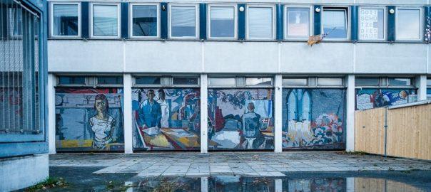 Potsdam, Rechenzentrum, Mosaik (Bild: Peter van Heesen)