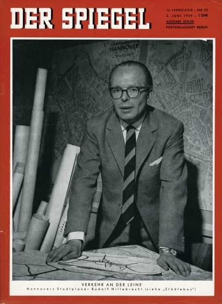 """Stadtbaurat Rudolf Hillebrecht 1959 auf dem Titel des """"Spiegel"""" (Bild: Wiederabe mit freundlicher Genehmigung der Spiegel-Redaktion)"""