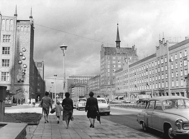 Rostock, Lange Straße, 1963 (Foto: Karnitzki, Bild: Bundesarchiv Bild 183-B0821-0003-001, CC BY SA 3.0)