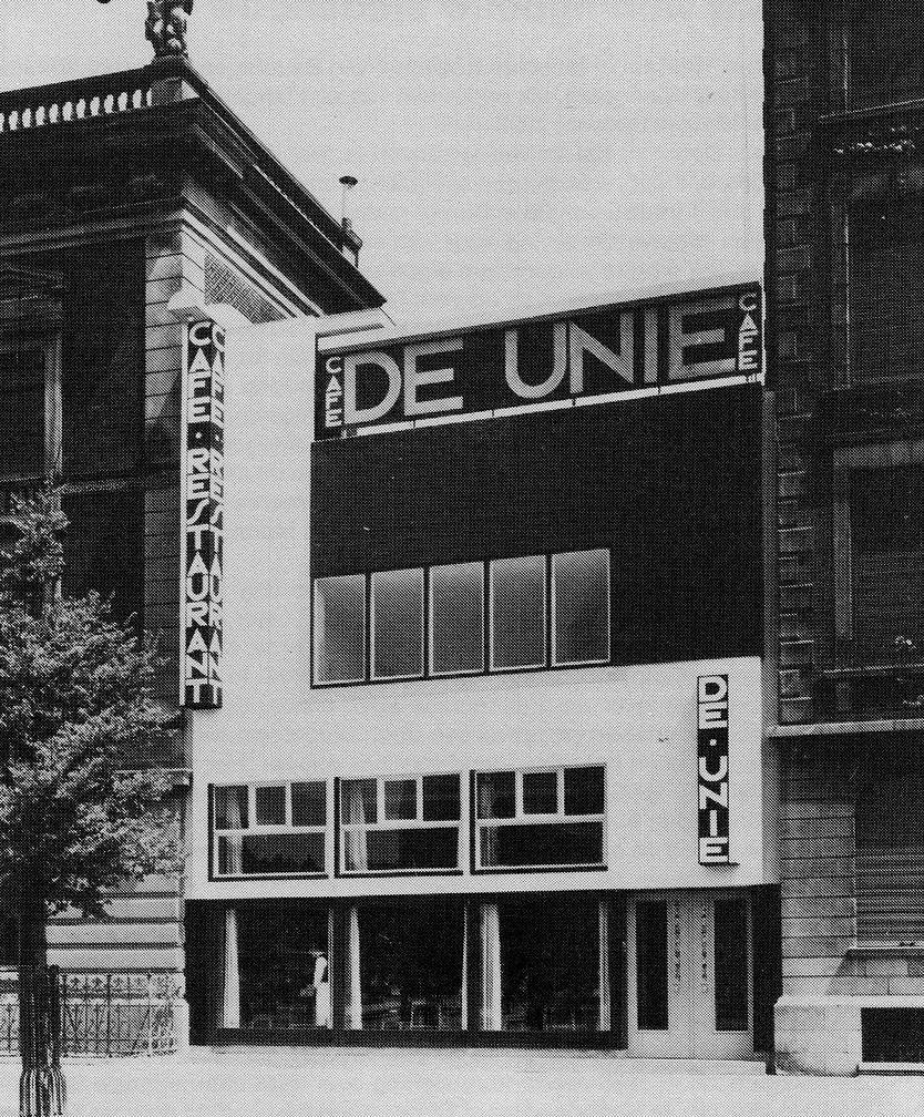 Rotterdam, Café De Unie (J. J. P. Oud, 1925) (Bild: PD, um 1925, via wikimedia commons)