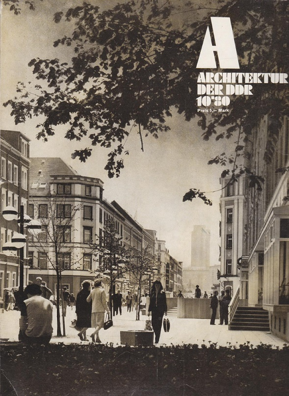 """Der Brühl: beliebt und vielfach publiziert – Titelblatt der Zeitschrift """"Architektur in der DDR"""" (Bild: Wissenschaftliche Sammlungen zur DDR-Planungsgeschichte, IRS Erkner)"""