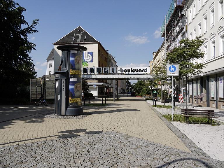 """Chemnitz, Eingang zum """"Brühlboulevard"""" (Bild: S. Necker)"""