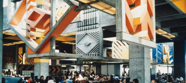 Saarbrücken, Mensa, 1965 (Bild: Thilo Mechau, Karlsruhe, SAAI des Karlsruher Instituts für Technologie (KIT))