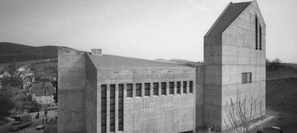 Sailauf, Auferstehungskirche im Bau (Bild: Nachlass Karl-Heinz Liebler; Stadt- und Stiftsarchiv Aschaffenburg)