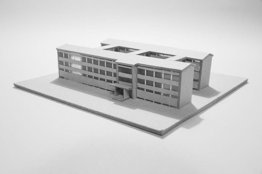 Typen-Schulbau der DDR, Typ Dresden, Modell (Bild: Dina Dorothea Falbe)