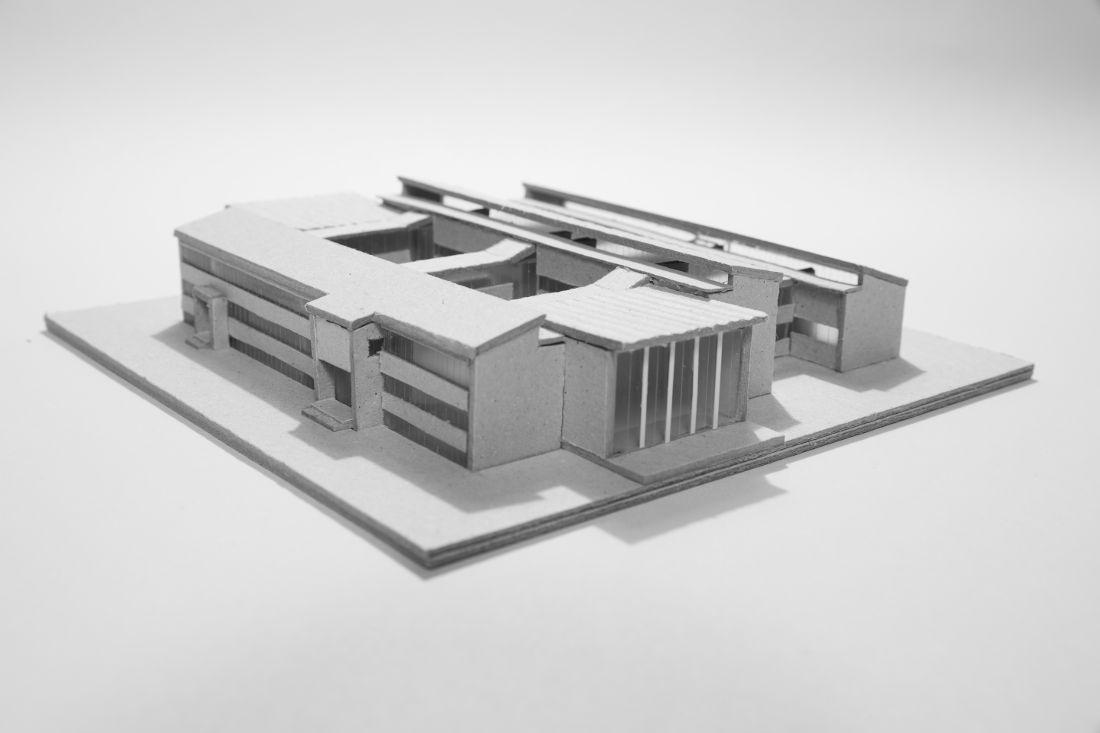 Typen-Schulbau der DDR, Typ Trauzettel-Schule, Modell (BIld: Dina Dorothea Falbe)