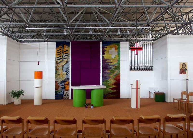 München, Ökumenisches Zentrum im Olympiadorf, katholische Werktagskapelle (Bild: Andreas Poschmann/Straße der Moderne)