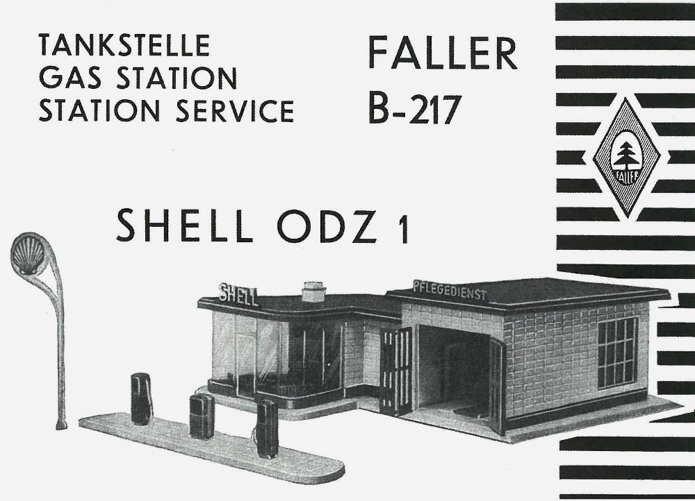 """Faller-Modell B-217 """"Shell ODZ 1"""", Bauanleitung (Bild: Faller)"""