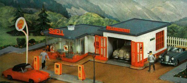 """Faller-Modell B-217 """"Tankstelle"""" (Bild: Faller)"""